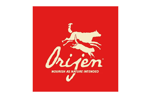 Orijen pet food logo - sponsors of crufts