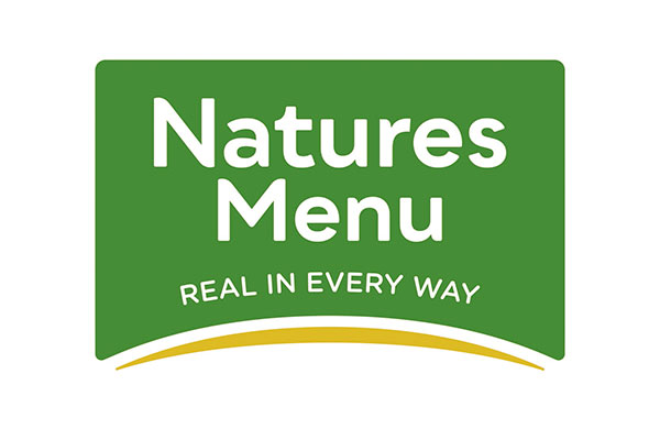 Natures Menu raw dog food Logo - sponsors of crufts