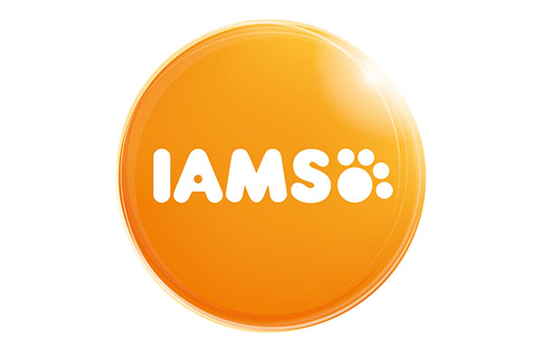 Iams pet food logo - sponsors of crufts
